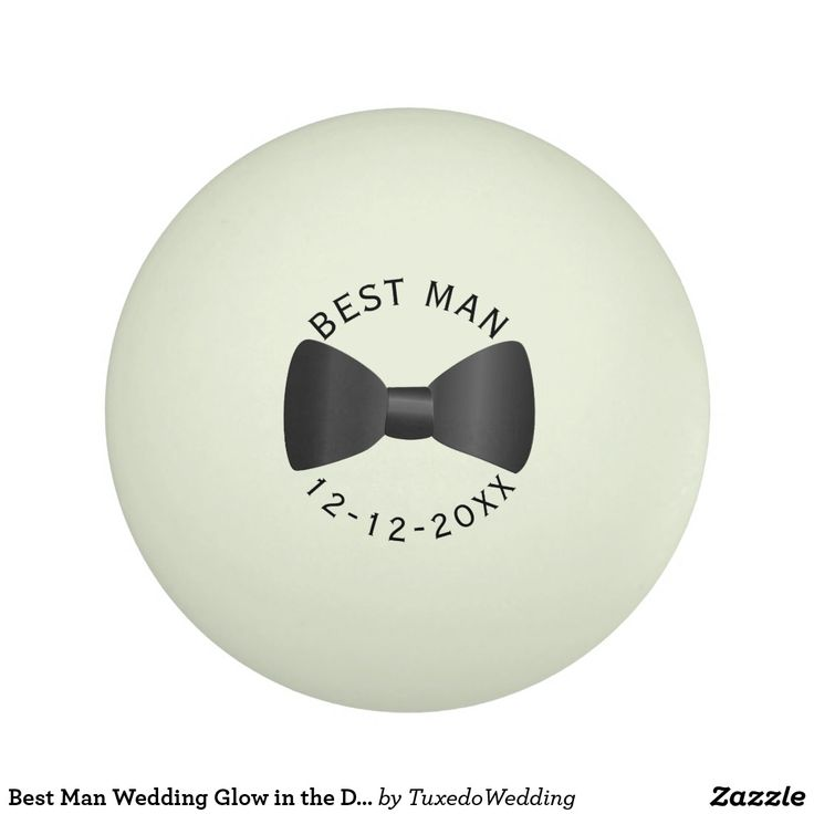 Best Man Wedding Glow in the Dark Ping Pong Ball