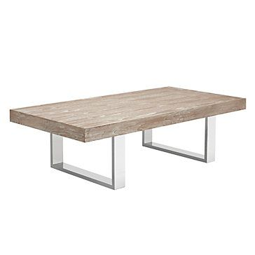 Whitewashed Cayman Coffee Table Embodies Seaside Sophistication 599 00 Zgallerie