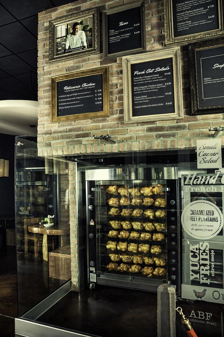 The rotisserie at Richard Sandoval's new Miami eco-friendly restaurant, Kokoriko. Photo by Zero Fractal.