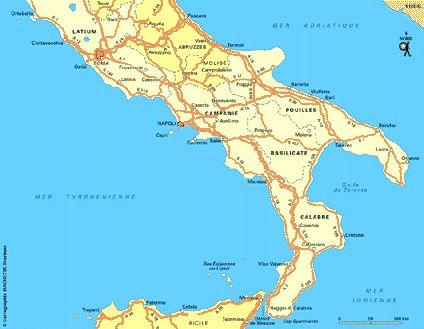 Carte Italie sud - Plan Italie sud