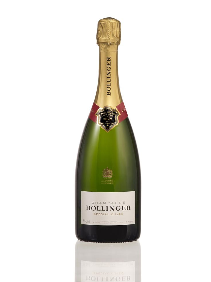 new bollinger bottle with narrower neck based on the shape of the bottle in 1840.  Pretty.