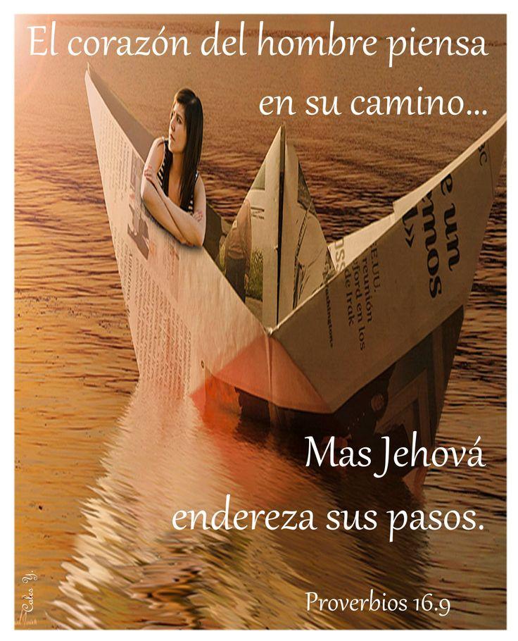 """Dios es quien guía nuestra barca... """"Salmos 16: 8-9 (RV) he puesto el Señor siempre delante de mí, porque está a mi diestra, no seré conmovido. Por eso mi corazón se alegra ❤, y gozó mi alma; mi carne también reposará confiadamente {DM}."""