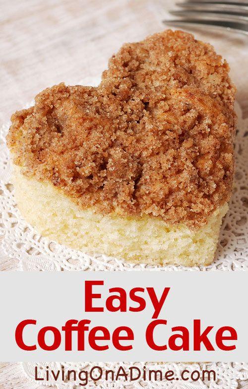 Easy applesauce coffee cake recipe