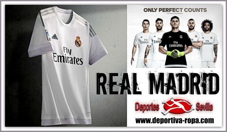 ¡¡Ya disponible en nuestras tiendas y en http://www.deportiva-ropa.com/2265-comprar-camiseta-real-madrid-cf-2015-2016.html la nueva camiseta del Real Madrid para la temporada 2015/2016!! ¡¡No te quedes sin ella!! #DeportesSevilla #FelizJueves #RealMadrid #HalaMadrid #Madrid #CamisetaRealMadrid #CamisetaMadrid #NuevaCamisetaRealMadrid #Casillas #CristianoRonaldo #Bale #Benzema #Marcelo #SergioRamos #CR7 #RMCF