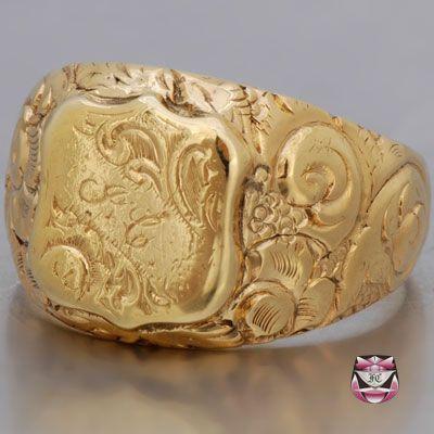 Antique Victorian Mens Signet Ring