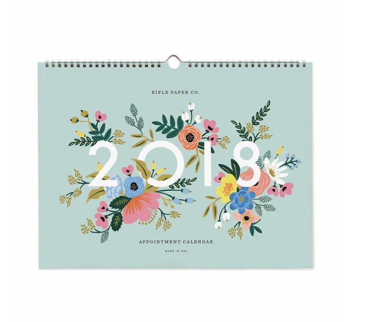 2018 Floral Appointment Calendar