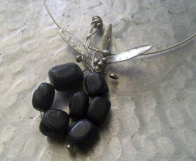 Black Onyx Pendant Necklace. Black Grapes by JirjiMirjiOneofaKind, €52.70