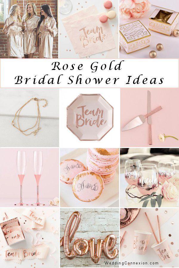 Rose Gold Bridal Shower Color Scheme Elegant Wedding Ideas Rose Gold Bridal Shower Decor Rose Gold Bridal Shower Bridal Shower Colors