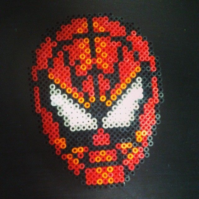 Spiderman hama beads by justblanche