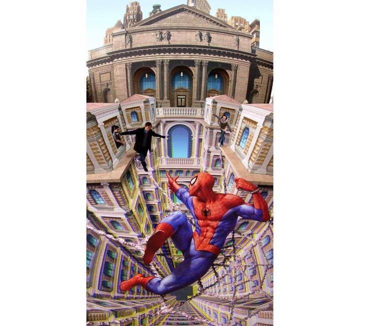 Best Optical Illusions Images On Pinterest Pavement Art Art - Amazing 3d art museum lets visitors become part art