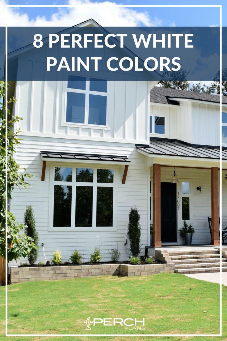 The Best White Modern Farmhouse Exterior Paint Colors White Exterior Houses House Paint Exterior Exterior Paint Colors For House