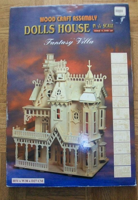 Doll House kit  wooden dollhouse  Fantasy Land by NewtoUVintage