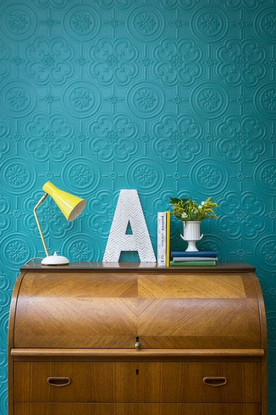 The New Anaglypta Wallpapers - paintable textured wall paper