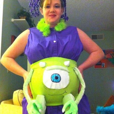 Disfraz de Monstruos S.A. para embarazadas