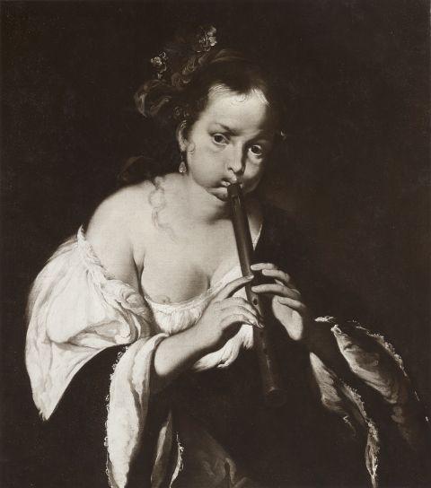 Γυναίκα παίζει φλάουτο