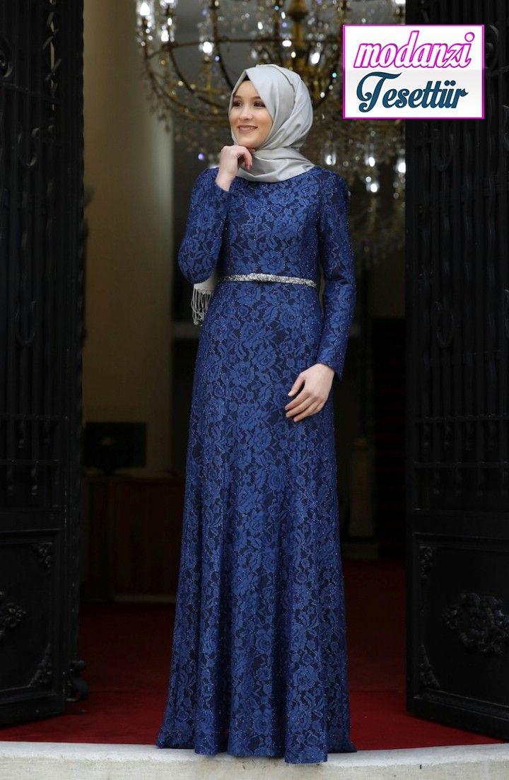Dantel Kaplama Abiye Elbise 3206 07 Indigo Sefamerve Abiye 2020 2020 Aksamustu Giysileri The Dress Elbise