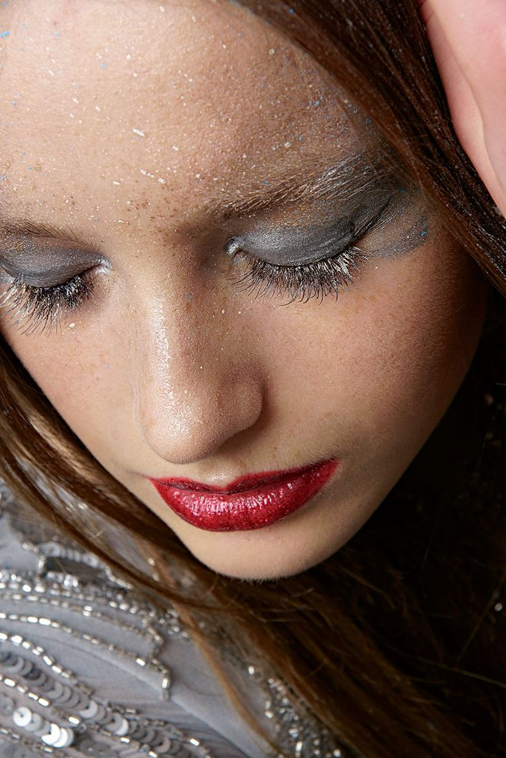 Fashion makeup, glow.