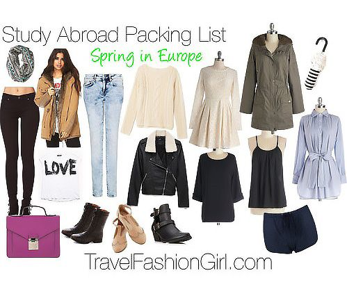 Study Abroad Packing List for Spring in Europe | The College Tourist