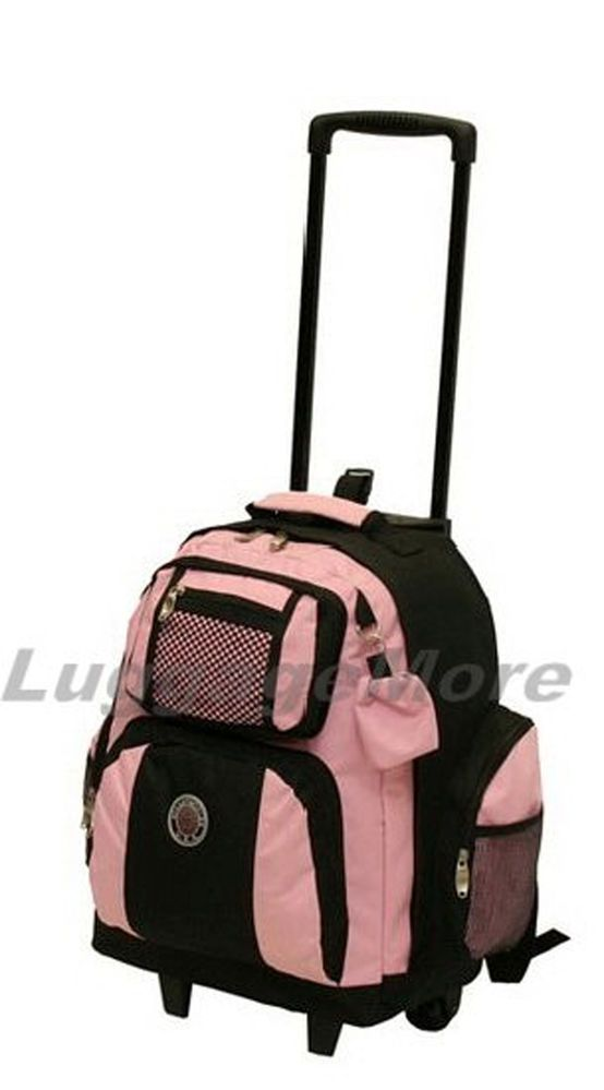 """18"""" Large Rolling Backpack Wheeled College Bookbag Travel Carry on (10 Colors) #Transworld #RollingBackpack"""