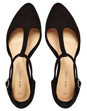I'M IN LOVE with these! New Look Jupiter Black T Bar Flat Shoes