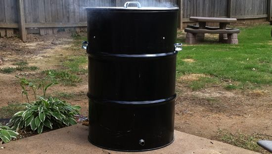 """Build your own """"Ugly Drum Smoker"""", free .pdf plans and parts lists."""