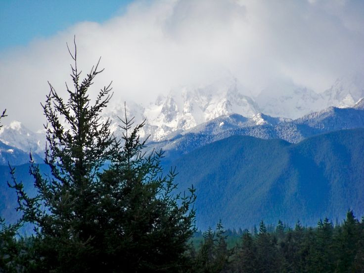 The Olympic Mountains (& Olympic National Park) after the season's first big snow. Photo ©Laurie Fahrner, 2016