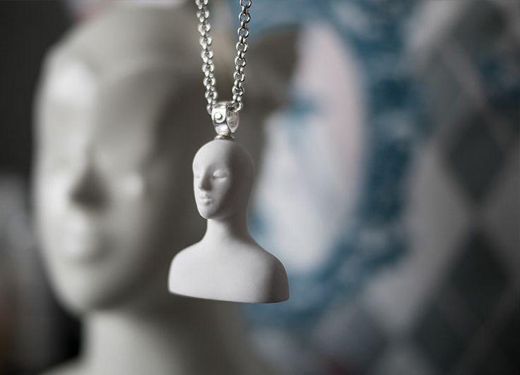 Silence, porcelain unglazed