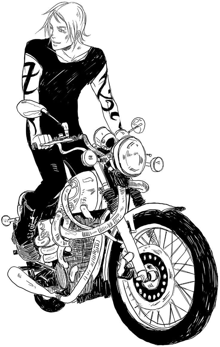 Jace Herondale on a bike