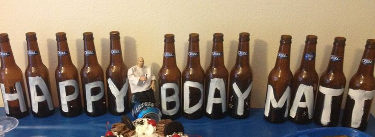 Beer guys Father's Day decorations