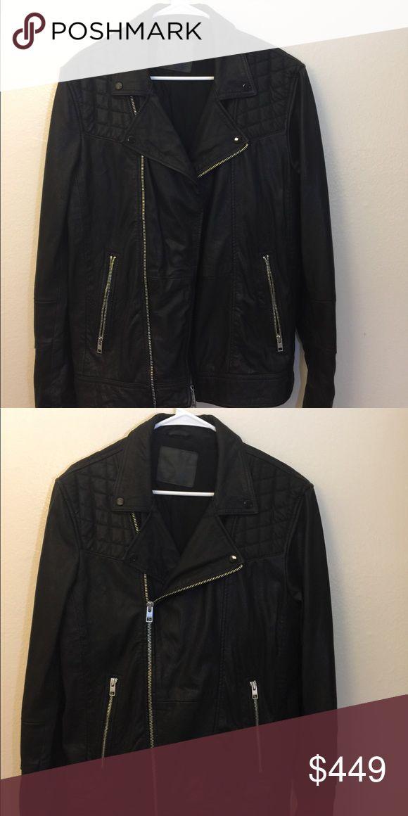 ALLSAINTS Kushiro Leather Jacket Black   Mens   Size:L Original, Genuine leather ALLSAINTS Jackets & Coats