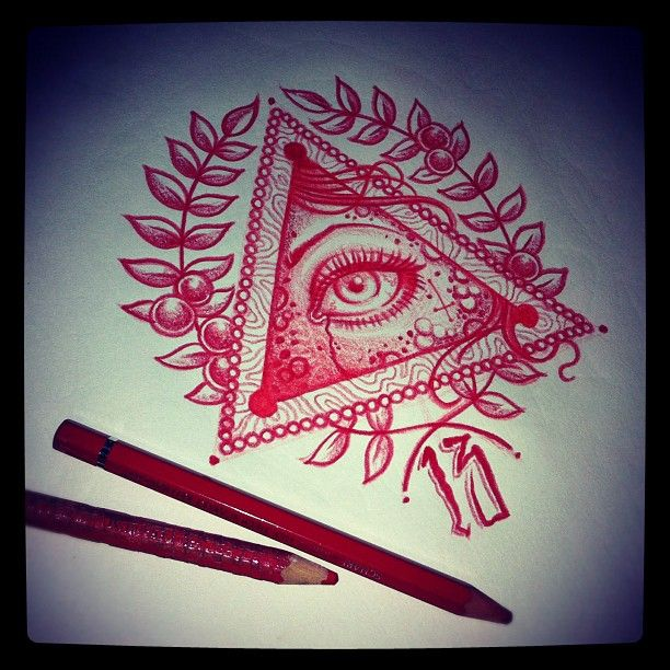 Tattoo - Idea - Draw - Triangle - Eye - Geometric