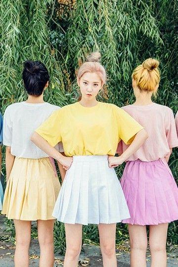 Pigment Blend Tee | Korean Fashion #chuu