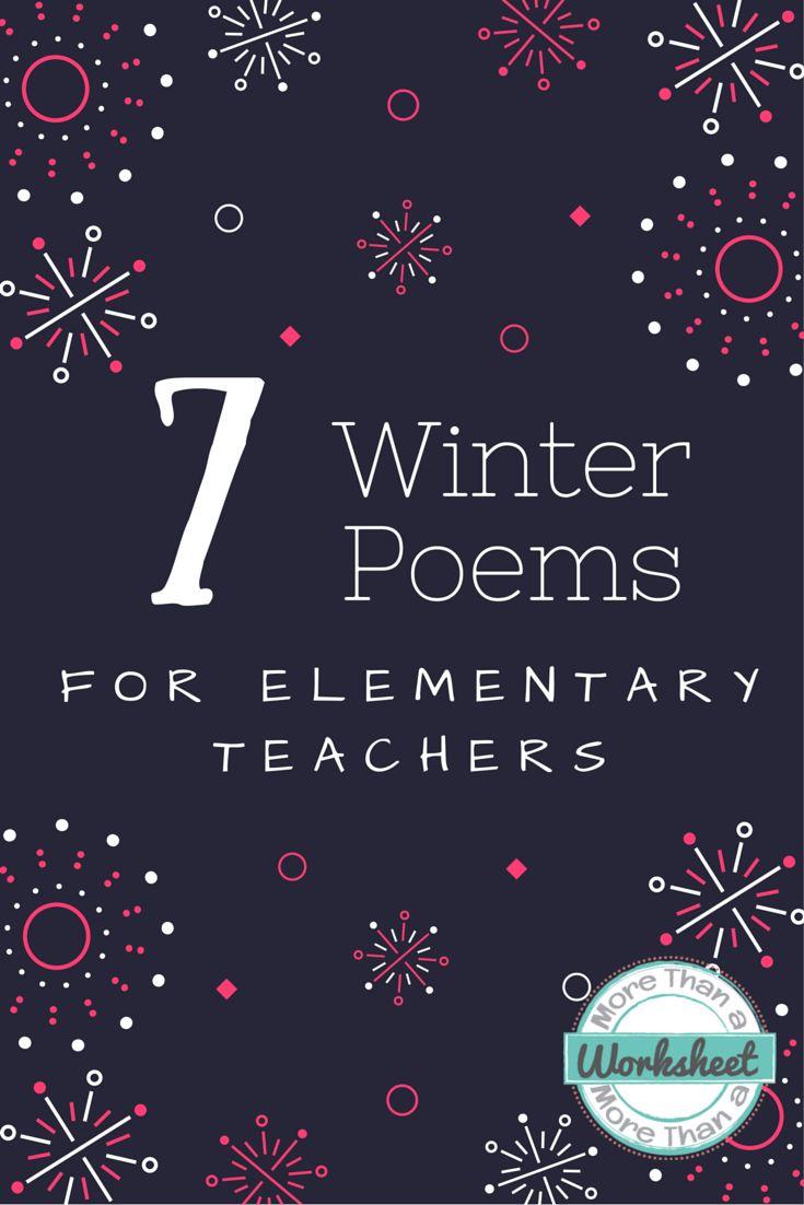 Winter Poems for Teachers