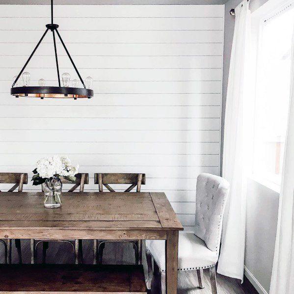 Top 50 Best Shiplap Wall Ideas Wooden Board Interiors Ship Lap Walls Dining Room Walls White Shiplap Wall