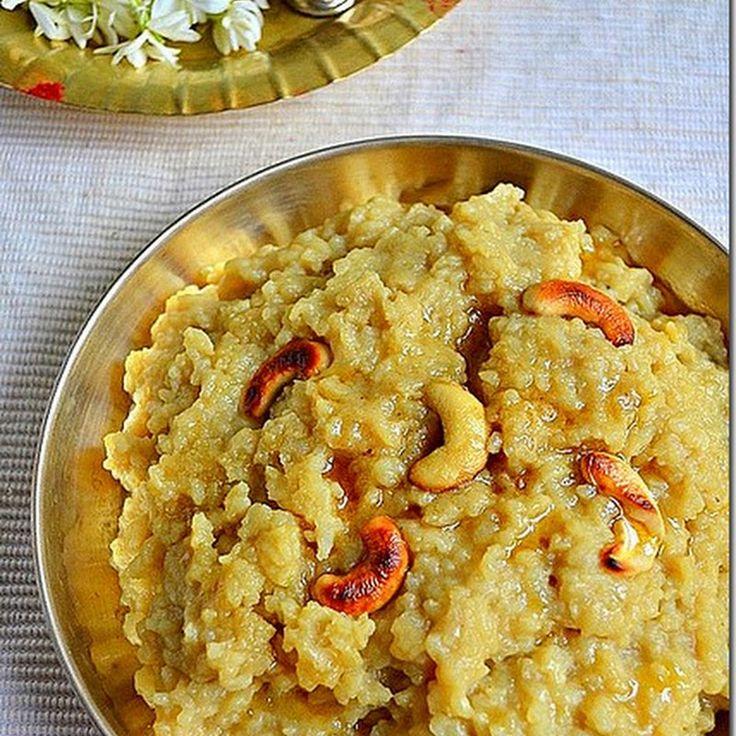 Temple style/ Koil Sweet pongal/Sakkarai pongal recipe with jaggery for thai pongal festival and aadi velli/aadi perukku.