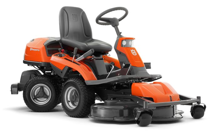 In short – this riding grass mower gives you the ultimate driving experience. Can easily be fitted with a number of attachments such as broom, aerator and dethatcher, for maximum output throughout the year. Features like pedal-operated hydrostatic transmission, easy-access controls, headlights and cutting deck service position, makes operating and servicing this Rider a pleasure.