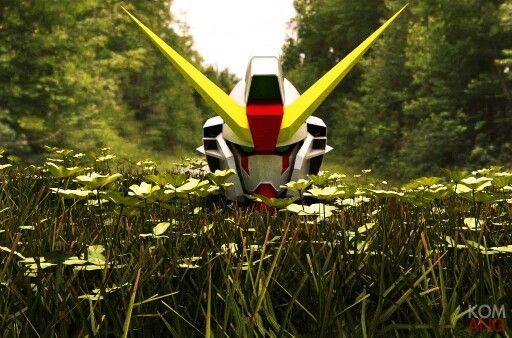 Gundam Head Model : 3D Ware House Render by Kom-Ang: SU8 + Vray 2.0 + PsCS6