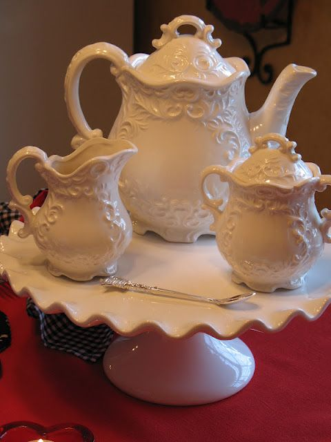 Milk Glass Tea Set                                                                                                                                                      More
