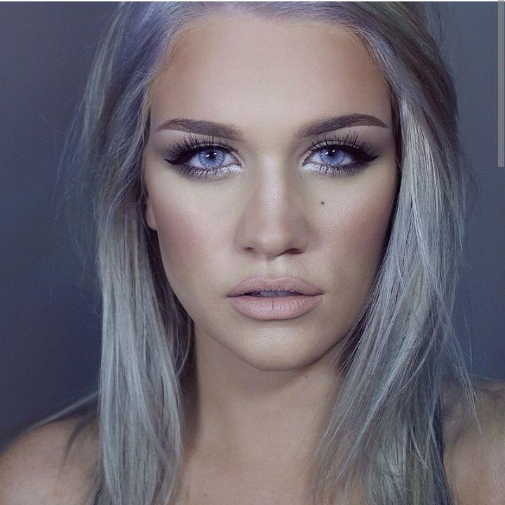 Granny Hair Makeup 👵 Makeup for Grey Hair - YouTube  Makeup For Gray Hair