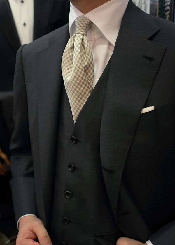 Gray 3p Suit For Wedding