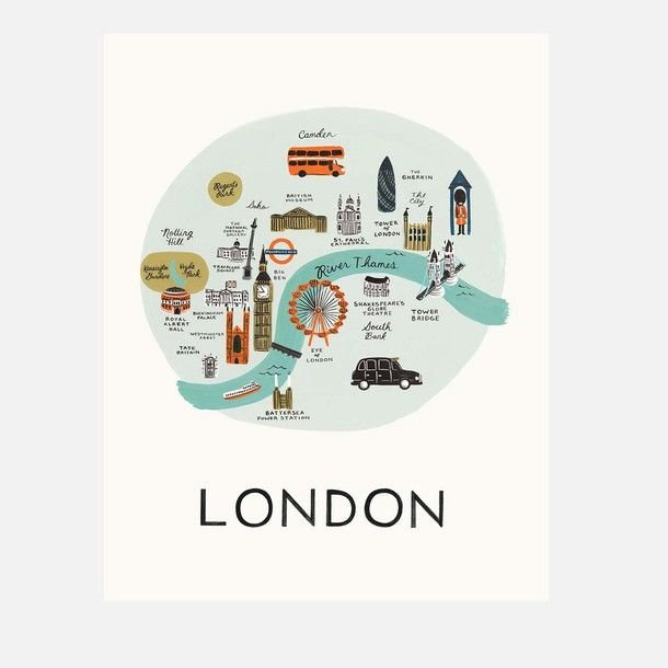 London Print by Rifle Paper Co.