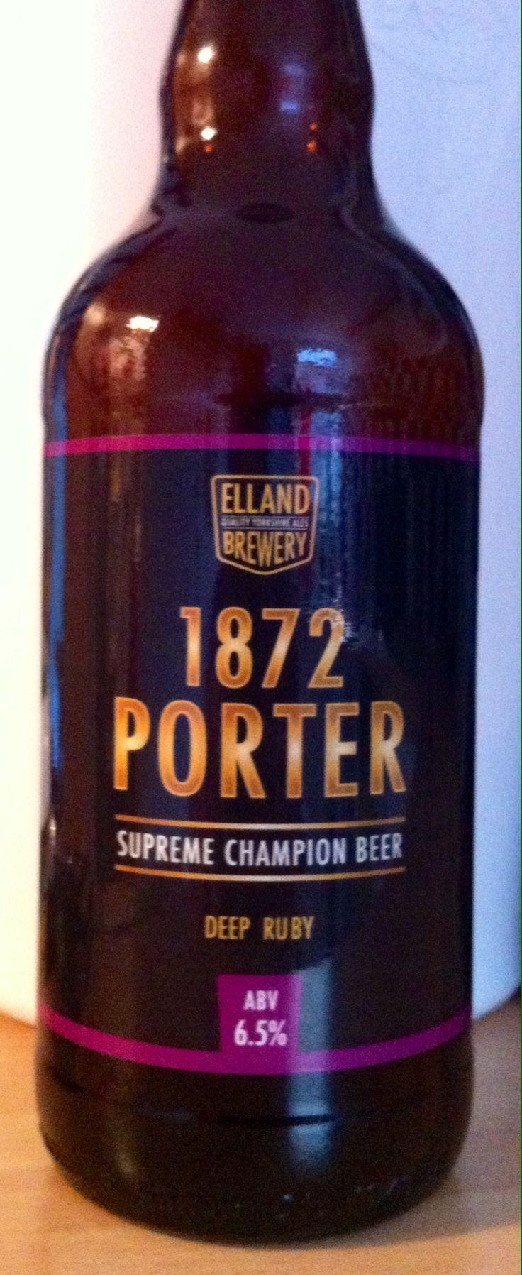 1872 Porter. ABV 6.5%. Elland Brewery, Elland, West Yorkshire. 9/10