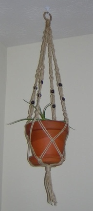 macrame plant hangers I remember making these with my Aunts