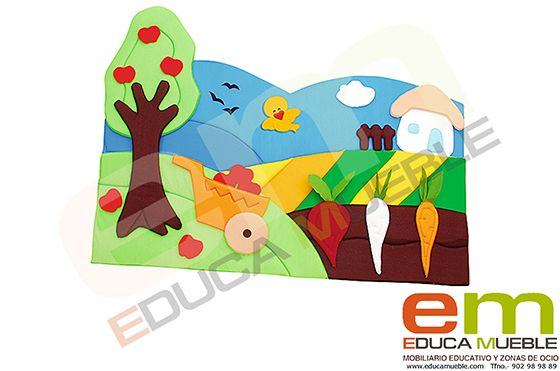 Decoracion de pared Huerto - Tienda Educamueble