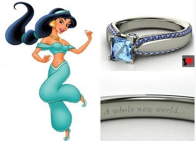 ♥Como nos contos de fada... Anéis de noivado inspirados nas princesas da Disney...
