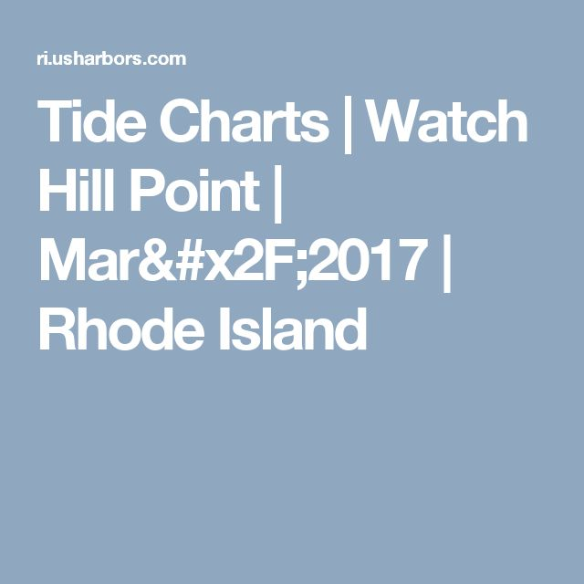 Tide Charts Watch Hill Point Mar2017 Rhode Island Recipes