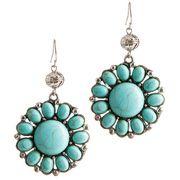 Women's JWest Turquoise Blossom Earrings