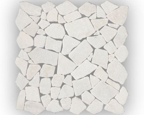 Marmor-Natursteinmosaik Bianco Carrara 30,5x30,5 cm