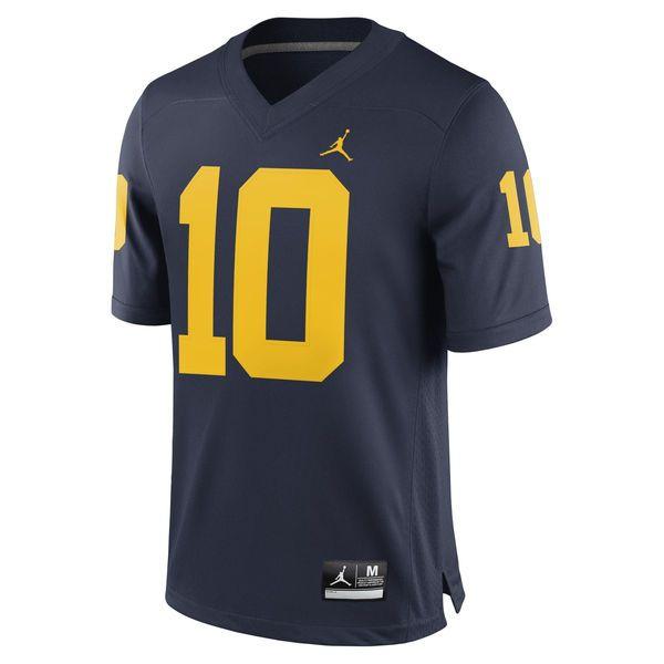 Tom Brady Michigan Wolverines Brand Jordan Alumni Football Jersey - Navy