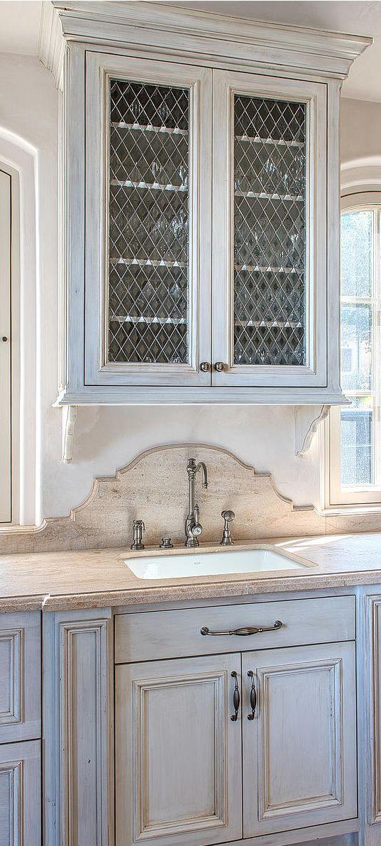 backsplash detail, washed glaze kitchen cabinets